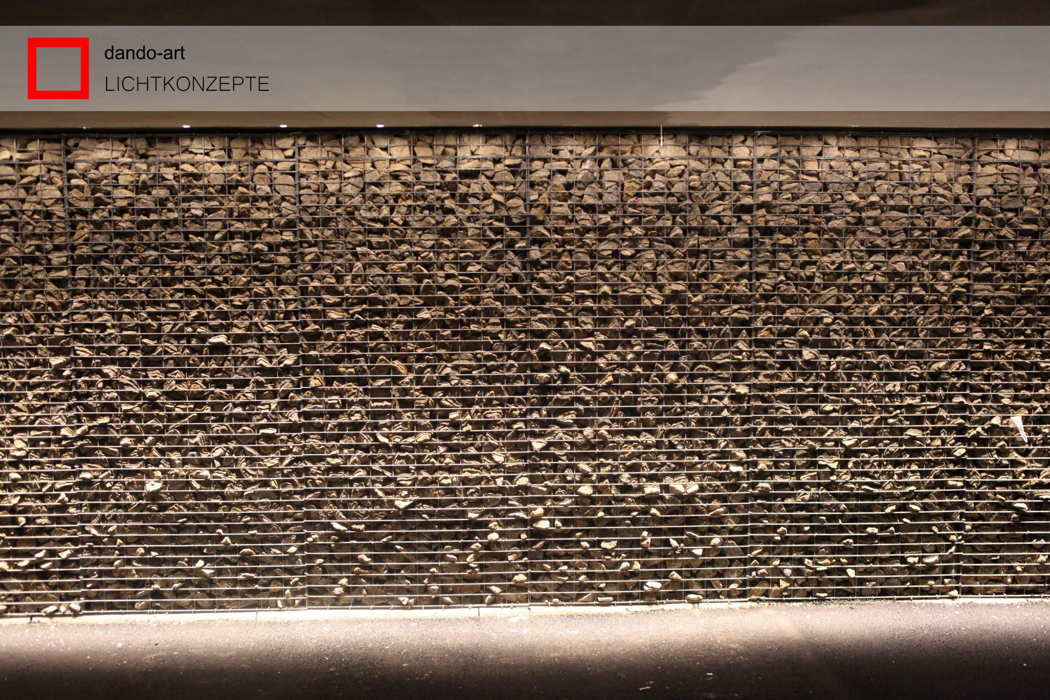 dando-art LED Wall zur Gabionenbeleuchtung