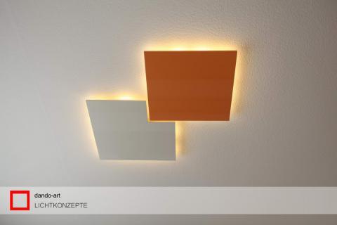 dando-art LED Deckenpanel Kunstwerk aus Holz