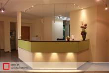 Zahnarztpraxis Empfang LED-Beleuchtung
